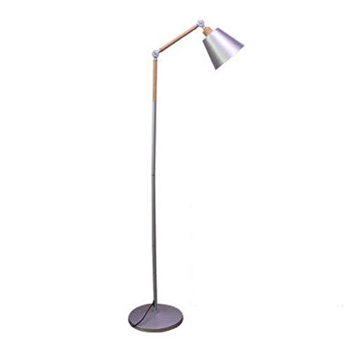 Lámpara de pie Lámpara de pie moderna, iluminación de lectura, base de lámpara de pie ajustable y bombilla LED de 9/12 W, para sala de estar, dormitorio, oficina Floor Lamp (Color : Silver a)