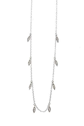 Zoeca - Halskette Meghan - 925 Silber - Tropfen - Damen -Zirkonia Steinchen (Silber)
