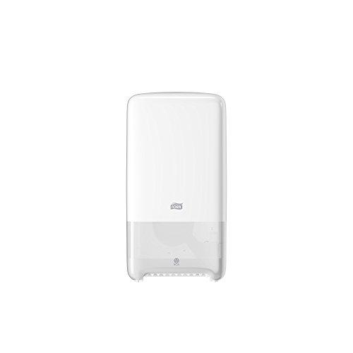 Tork 557500 Dispensador de doble rollo de papel higiénico de tamaño mediano Elevation / Sistema T6 / Blanco
