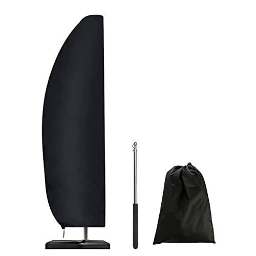 DXAQX Copertura per ombrellone da patio, impermeabile 420D, copertura per ombrelloni da esterni, a sbalzo, con asta con cerniera per ombrelloni da 2,7-3,4 m