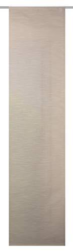 Home Fashion SCHIEBEVORHANG DEKO QUEREFFEKTE, Stoff, beige, 245 x 60 cm
