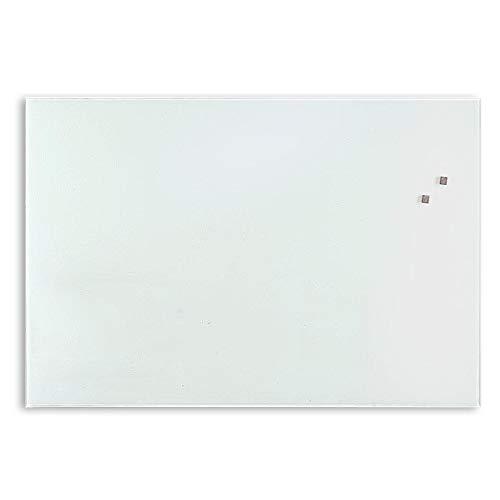 Premium Glas-Magnettafel beschreibbar   TÜV-geprüft   Whiteboard rahmenlos mit Schwebe-Effekt   Pinnwand magnetisch aus Sicherheitsglas   7 Größen (60 x 90 cm) - 2