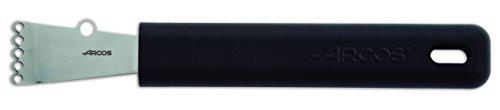 Arcos Gadgets Professionali - Cannaleur Zesteur Rigalimone - Acciaio Inossidabile 40 mm - Manico Polipropilene Colore Nero