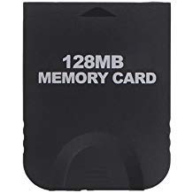 WiCareYo 128MB Black Memory Card 2043 Blöcke für Wii NGC Gamecube Konsole