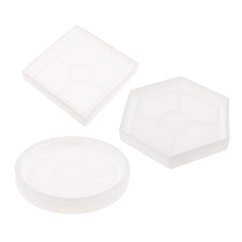 kowaku Moldes Transparentes de Silicona para Hacer Joyas, Colgantes, Herramientas para Manualidades con Moldes