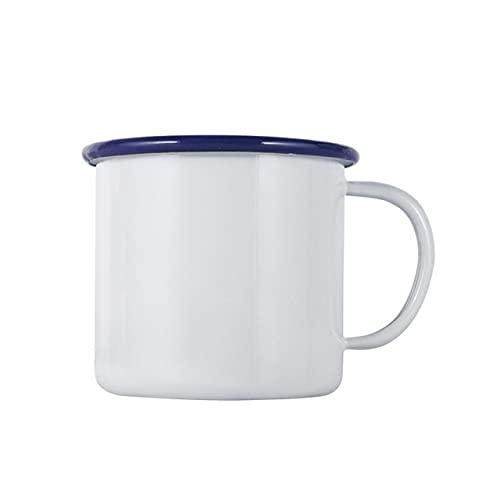 Verdickte Curling Emaille Tasse Retro Nostalgische Wassertasse Kreative Kaffeetasse Retro Runde Kreative Teetasse - Bunt - 7ML
