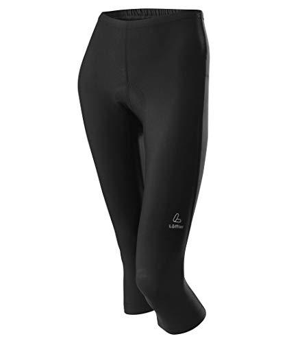 LÖFFLER Basic Pantalon de Cyclisme 3/4 Femme, Black