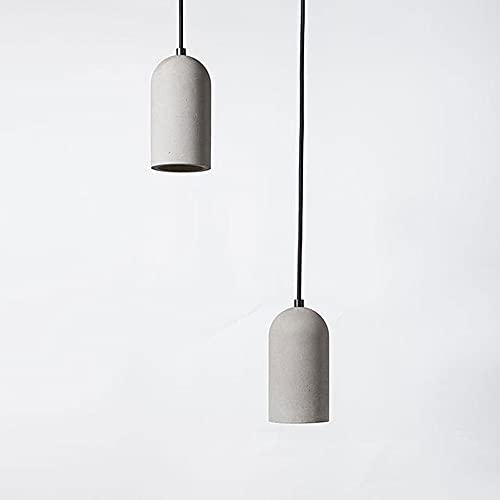 GUOGUOSM Lámpara De Araña De Cemento De Estilo Retro Industrial Estadounidense Sala De Estar Minimalista Moderna E27 Lámpara De Araña Pequeña Restaurante Bar Lámpara De Cemento De Hormigón