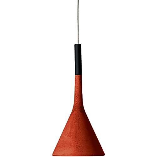Lámpara Colgante GU10 8W, H3,5M con Ahorro energético y ecosostenibilidad, Hecha de Cemento, Modelo Aplomb, 16,5 x 16,5 x 35,5 centímetros, Color Rojo (Referencia: 195007L/3-64)