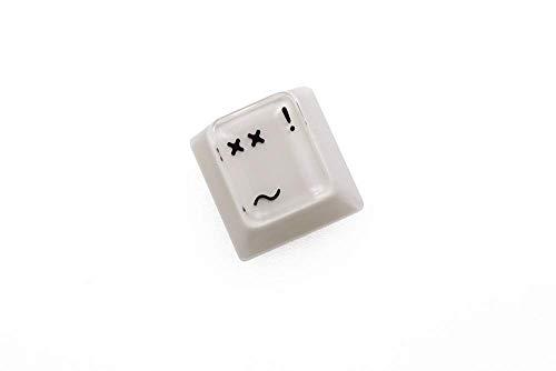 Tastenkappen mit Hintergrundbeleuchtung, kompatibel mit MX-Switches und Klonen, beige, grau, rot, schwarz, wütend (Farbe: DClick Bitter Smile), 1 Stück