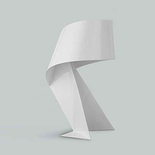 Yhongyang Nordische Moderne minimalistische kreative Tischlampe Origami dekorative Lampe Persönlichkeit schmiedeeiserne Schlafzimmer Nachtbett Arbeitszimmer Wohnzimmer Lampe,White