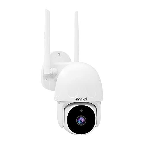JideTech Telecamera IP esterno 2MP HD,PTZ WIFI Dome Telecamera Con Sistema d'allarme Auto Tracking,visione notturna, Audio Bidirezionale,IP66,Compatibile Scheda 128 GB SD/Cloud