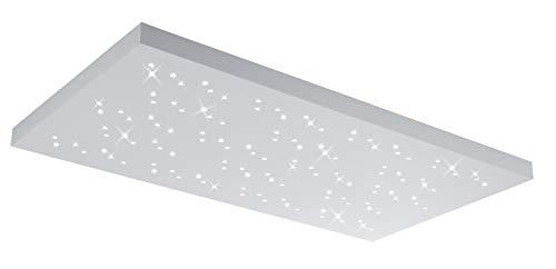 Trio Leuchten LED Deckenleuchte Titus 676611031, Metall / Aluminium, 48 Watt, Helligkeit und Lichtfarbe einstellbar