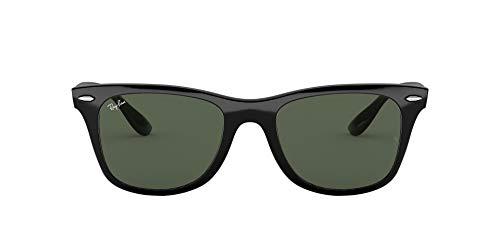 Ray-Ban Unisex Wayfarer Liteforce Sonnenbrille, Schwarz (Gestell: Schwarz, Gläser: Grün Klassisch 601/71), Medium (Herstellergröße: 52)