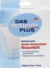 DAS gesunde PLUS Steriler Wundverband wasserdicht, 1 x 5 St Medizinprodukt