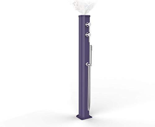 arkema Jolly Go Douche solaire d'extérieur avec brumisateur, mitigeur et douchette Mobile Violet