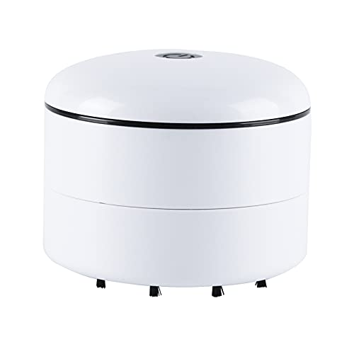 Aibecy Mini aspiradora de mano portátil de sobremesa barredora de polvo inalámbrica mesa colector de migas para teclado de computadora limpieza de polvo en casa escuela aula oficina coche