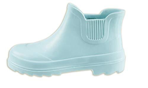 Dynamic24 Damen Gartenstiefel Ultraleicht Stiefeletten Gummistiefel Schuhe Regenstiefel Gartenschuhe hellblau (39)