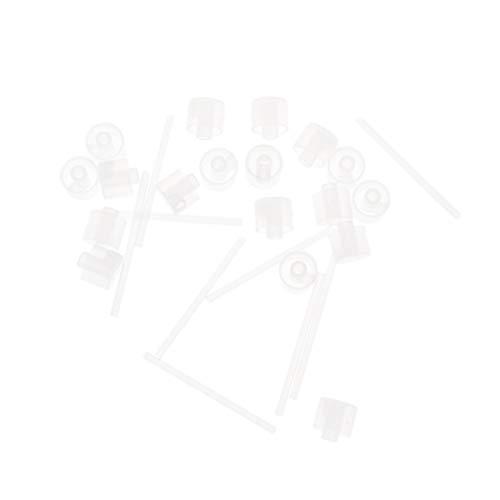 Lurrose 20pcs Parfum De Recharge De Pompe En Plastique Liquide Outil Distributeur Cosmétique pour Petite Bouteille De Spray Rechargeable