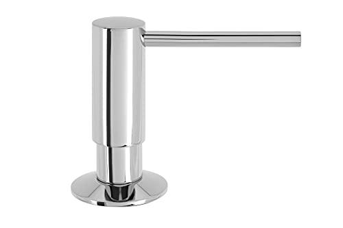 Pompe à Savon Mizzo Govaro | Distributeur de Désinfectant | Flacon 300ml | Accessoires de Cuisine (Chrome)