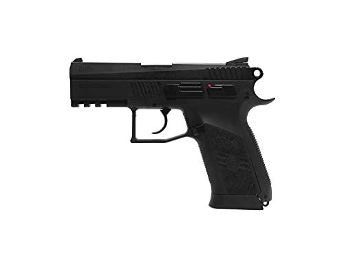 ASG CZ 75 P-07 Duty .177 Caliber Steel BB Gun Air Pistol, Black, Blowback