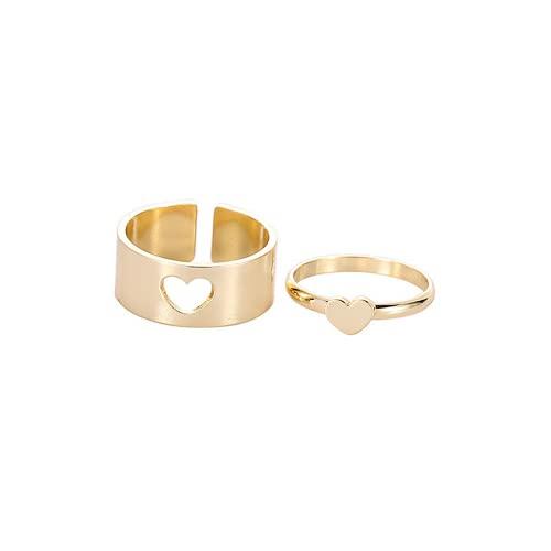 Anillo de pareja punk regalo para hombres y mujeres de moda índice, decoración de personalidad de dedo (oro, mariposa)