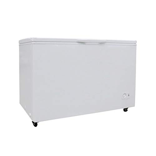 Plastic Development Group 13.7 Cubic Ft Manual Deep Freeze Chest Freezer for Extra Food Storage, White