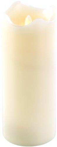 Britesta Kerze LED: Echtwachskerze mit beweglicher LED-Flamme, 90 x 225 mm, Gr.XL (LED Kerzen mit beweglicher Flamme)
