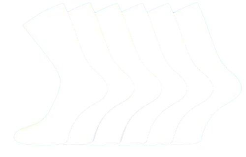 i-smalls Ltd Damen Baumwolle, uni lose breit Top Casual Socken nicht elastisch, 3Paar Pack Gr. 37-39, weiß
