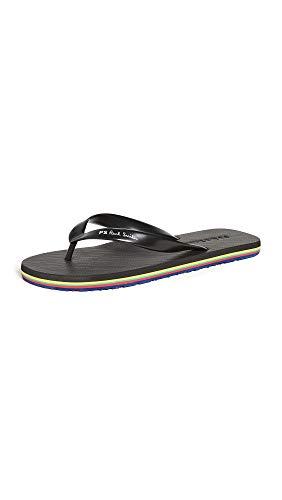 PS Paul Smith Men's Dale Flip Flops, Black, 6-7.5 Medium US