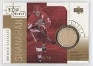 Brendan Shanahan #26/50 (Hockey Card) 2001-02 Upper Deck Top Shelf - Game-Used Sticks - Gold #S-BS