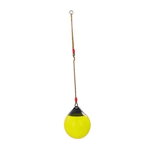 SSXPNJALQ Asiento De Swing Al Aire Libre con Cuerda De Trabajo Pesado para Juguetes De Juegos para Niños (Color : Yellow)
