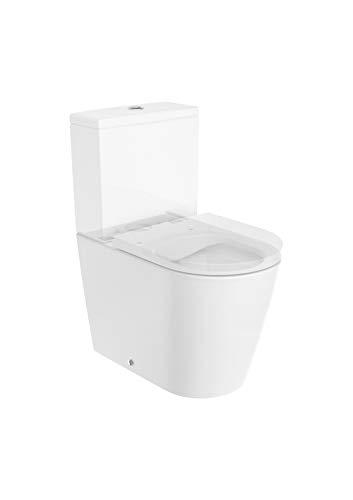 pack wc de inodoro round compacto adosado a la pared