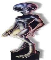 Pappaufsteller Roswell Alien - Male/Männlich Standup Figur Kinoaufsteller Pappfigur Cardboard Lebensgroß Life-Size Standup