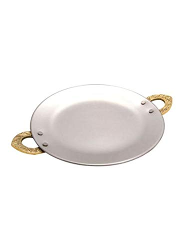 Raj Kitchen - Tawa (cobre, forma redonda, 20 cm), color plateado