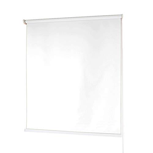 Estores Baratos Enrollables · Estores para Ventanas en Tela de Poliéster · Stores Ventanas con Mecanismo y Cadena en PVC · Color Blanco · Medidas (80x180 cm)
