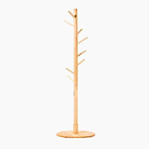 AOIWE Coat Stand Rack Round Chassis Coat Rack,with 8 Hooks Good Load Bearing,for halls entrances bedrooms living rooms offices, etc