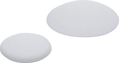 Kraftmann 80867 | Wand- / Türpuffer | 2-tlg | Ø 40 / 60 mm | Selbstklebend | weiß