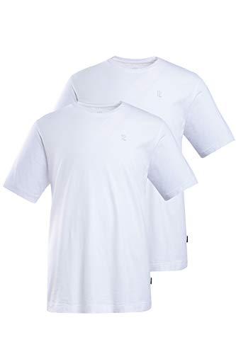 JP 1880 Herren große Größen bis 8XL, T-Shirt im Doppelpack, Basic-Shirt aus Reiner Jerseyqualität, Rundhals, Bequeme Passform weiß, weiß XXL 702637 20-XXL