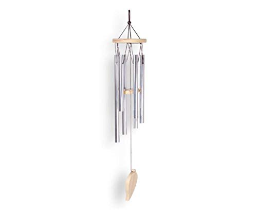 YANHUIGANG Chimes Instrument Einfaches Massivholz Aluminiumrohr Metall Wohnkultur Urlaub kreatives Geschenk-Kleine sechsfarbige Holzröhre
