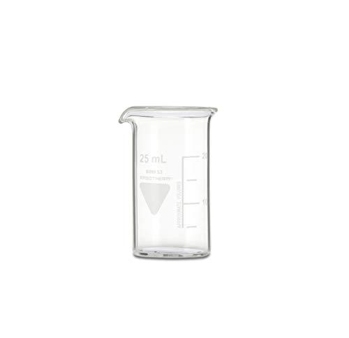 neoLab - Vaso de precipitado con boquilla Kimax Boro 3.3, de cristal, 25 mL, Transparente (transparente), 1