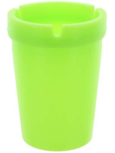 MIK funshopping - Posacenere Glow in The Dark Verde, Senza Fumo, in plastica