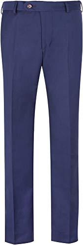 STENSER B42A Jungen Anzughose Schuluniform Elastische Taille, Blau, 140 GR (Label 36/140)