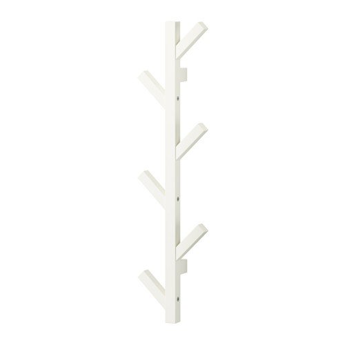 IKEA TJUSIG Aufhänger in weiß; (78cm)