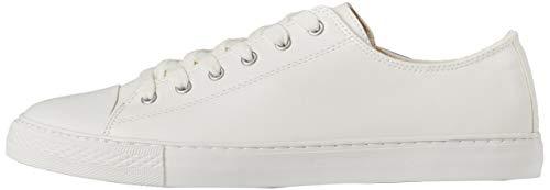 find. Damen Flache Sneaker, Weiß (White), 41 EU (8 UK)