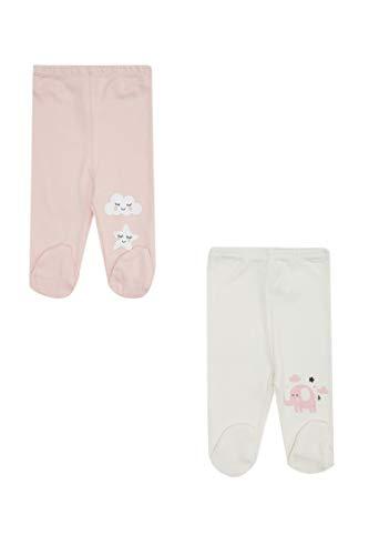 DeFacto Baby Girl - Pantalones de punto para bebé, pijama informal para bebé Pembe-743-13. 3-6 Meses