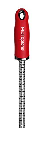 Microplane Rallador para Especias, Acero Inoxidable, Rojo, 22.90x3x2.56 cm