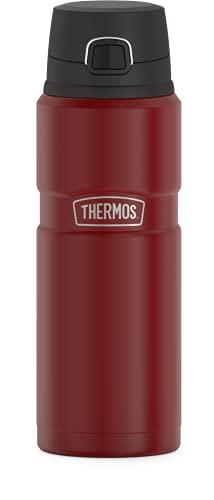 THERMOS Garrafa de bebida com isolamento a vácuo Stainless King, 700 ml, vermelho fosco