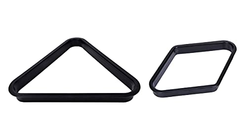 JBB Combo of Snooker and Pool Table Plastic Triangle and 9 Ball Frame in Black Color