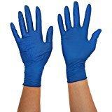Gentle Touch 0504 Guante Desechable de Nitrilo, Talla S, Azul Oscuro
